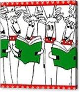 Reindeer Choir Acrylic Print