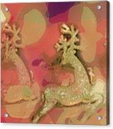Reindeer On Parade Acrylic Print