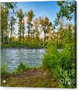 Relax By The Methow Rivers Edge Acrylic Print