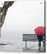Relax In The Rain Acrylic Print