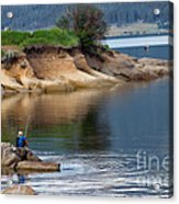 Relaxed Fisherman Acrylic Print by Robert Bales