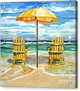Relaxing At The Beach Acrylic Print by Chris Dreher