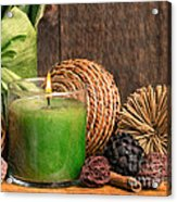 Relaxing Spa Candle Acrylic Print