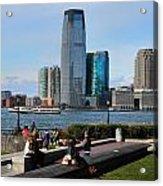Relaxing Weekend On New York Harbor Acrylic Print