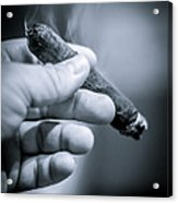 Relaxing With A Cigar Acrylic Print
