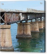 Relic Of The Old Florida Keys Overseas Railroad Acrylic Print