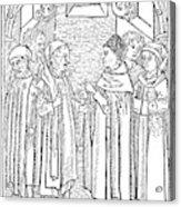 Religious Argument, 1477 Acrylic Print