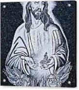 Religious Icons In Spanish Cemetery Acrylic Print