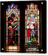 Religious Stained Windows Acrylic Print