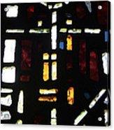 Religious Symbols In Glass Acrylic Print
