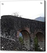 Remains Of An Old Stone Bridge Acrylic Print