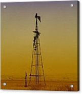 Remains Of An Old Windmill  Acrylic Print
