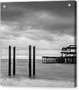 Remains Of The West Pier In Brighton Acrylic Print