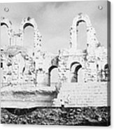 Remains Of Upper Tiers Of The Old Roman Colloseum At El Jem Tunisia Acrylic Print