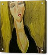 Sophisticated Lady With The Dreamy Eyes Acrylic Print