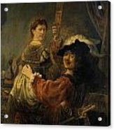 Rembrandt And Saskia In The Parable Of The Prodigal Son Acrylic Print