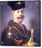 Rembrandt's A Polish Nobleman Acrylic Print