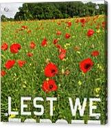 Remember Them Poster Version Acrylic Print