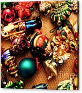 Remembering Cgristmases Past As You Trim This Years Tree. Acrylic Print