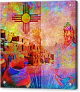 Remembering New Mexico Acrylic Print by M Montoya Alicea