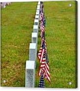 Remembering Veteran's Day Acrylic Print