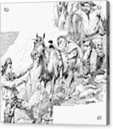 Remington Cowboys, 1887 Acrylic Print