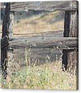 Remote Fence Acrylic Print