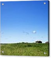 Remote Prairie Landscape With Abandoned Buildings Acrylic Print