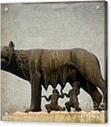 Remus And Romulus Acrylic Print by Bernard Jaubert