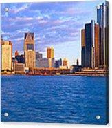Renaissance Center, Detroit, Sunrise Acrylic Print