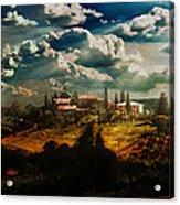 Renaissance Landscape With Power Lines Acrylic Print