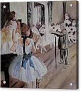 Dance Class By Degas Acrylic Print