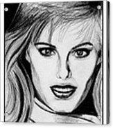 Renee Simonsen In 1984 Acrylic Print