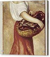 Renoir, Pierre-auguste 1841-1919. Girl Acrylic Print by Everett