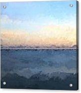 Renoir Style Digital Painting Stunning Long Exposure Seascape Image Of Calm Ocean At Sunset Acrylic Print