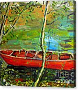 Renoirs Canoe Acrylic Print by Charlie Spear