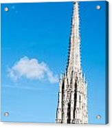 Renovation Of St.stephan Cathedral In Vienna - Austria Acrylic Print