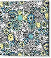 Repeat Print - Floral Burst Acrylic Print