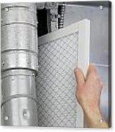 Replace Home Air Filter Acrylic Print