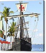 Replica Of The Christopher Columbus Ship Pinta Acrylic Print