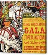 Reproduction Of A Poster Advertising The Fetes De Paris Acrylic Print