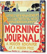 Reproduction Of A Poster Advertising The Morning Journal Acrylic Print