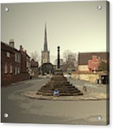Repton Cross, This Spot Marks The Place Where Christianity Acrylic Print
