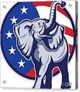 Republican Elephant Mascot Usa Flag Acrylic Print
