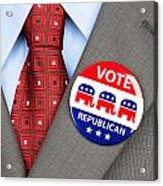Republican Vote Badge Acrylic Print