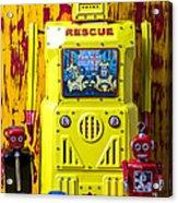 Rescue Robot Acrylic Print