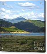 reservoir of Riano Leon Spain Acrylic Print by Stefano Piccini