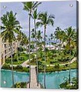 Resort In Dominican Republic Acrylic Print
