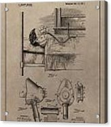 Respirator Patent Illustration 1911 Acrylic Print