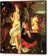 Rest On The Flight Into Egypt Acrylic Print by Caravaggio